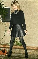 Good Evening (Amber :-)) Tags: black pu skater skirt tgirl transvestite crossdressing