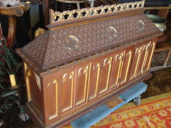 """OAK GOTHIC STYLE REQUILARY, C. 1900. • <a style=""""font-size:0.8em;"""" href=""""http://www.flickr.com/photos/51721355@N02/29696938544/"""" target=""""_blank"""">View on Flickr</a>"""