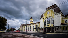 After the Rain (Yoan Mitov) Tags: cityscape city burgas bulgaria long exposure stacking car trails light nd filter clouds street road train station building architecture