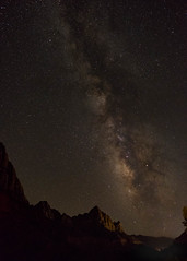 Milky Way over the Watchman at Zion National Park (Dave Chiu) Tags: zion nationalpark milkyway