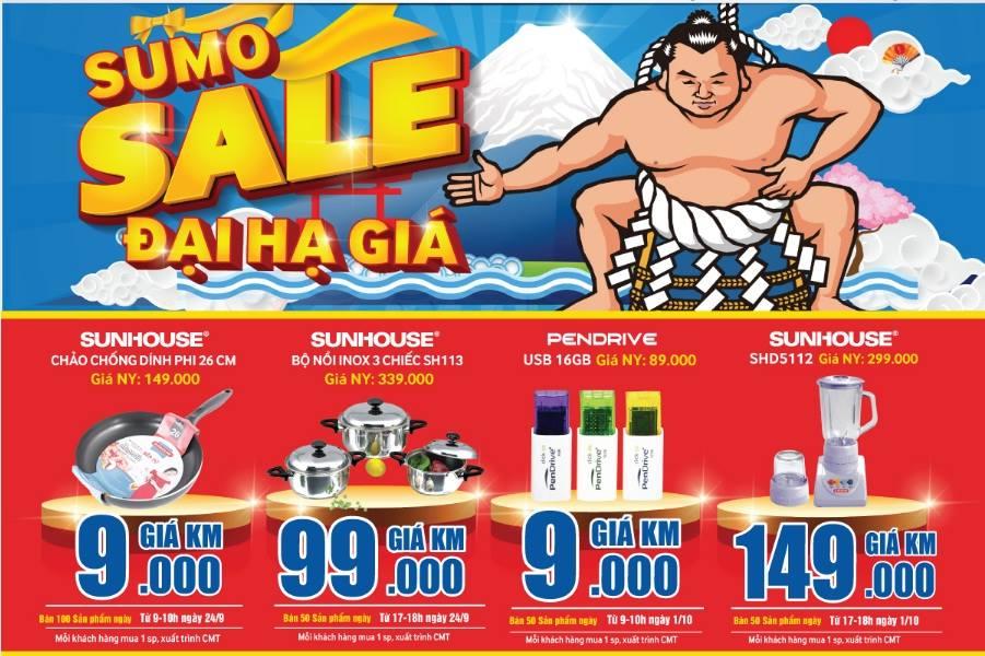 Sumo Sale: Khuyến mại sốc tại Trần Anh Bắc Ninh