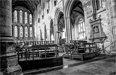 Ripon Cathedral . (wayman2011) Tags: fujifilmx70 lightroom wayman2011 bwlandscapes mono architecture cathedrals religeousbuildings historicbuildings northyorkshire yorkshire ripon uk