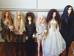 My dollgang atm :) (bunnylungs) Tags: bjd dolls doll souldoll madalyn isabel notdoll lucy soom deneb dollchateau agnes supiadoll rosy crobidoll yeonho