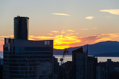 Vancouver Sunset (James Dun) Tags: vancouver british columbia sunset canada city downtown skyline skyscrapers nikond7000 clouds