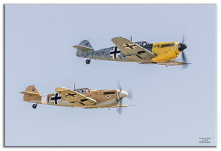 Messerschmitt Bf 109s - is how they look - but they sound like Spitfires [Explored]