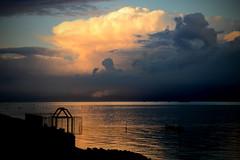 Icy Clouds in the evening (Harry Kool) Tags: medemblik onweer weer ijsselmeer weather thonderstom rain evening sunset sun noordholland westfriesland