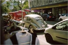 vw cox les eaux vives (OLDLENS24) Tags: bug custom car gold green
