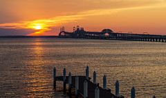 Brian_Bay Bridge Sunset From Hemingways 5 LG_081916_2D (starg82343) Tags: 2d brianwallace outdoors outside sun sunset evening goldenhour easternshoreofmd md maryland sky clouds