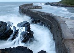 Collieston Harbour - Aberdeenshire (PeskyMesky) Tags: aberdeen aberdeenshire collieston colliestonharbour storm le longexposure scotland flickr canon canoneos500d