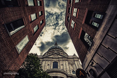 (10/31) St Paul's (Alex Chilli) Tags: london alley architecture building st pauls cathedral scene sky clouds