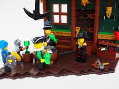 A Quick Eslandolan Lesson on Profit! (Robert4168/Garmadon) Tags: lego brethrenofthebrickseas anchor chandelier captainwhiffo mylesbowditch etwc headquarters pontelli bobs building commerce monkey