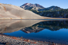 The Morning After (Tom Fenske Photography) Tags: morainelake oregon nature wilderness southsister mountain outdoors landscape water reflection glacier blue