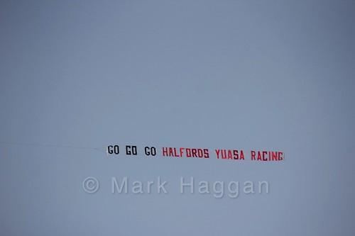 Halfords' Aerial sign at the BTCC Brands Hatch Finale Weekend October 2016