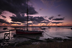 Essex Haybridge Basin (daveknight1946) Tags: outdoor waterscape yacht mud sunrise pinksky darkclouds