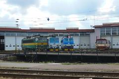 163-078 and 163-089 at Ceska Trebova depot (Karel1999 Over a Million views ,many thanks) Tags: vlak zug locomotives trains diesels ceska trebova