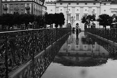 Rain in Lucerne... (JohannesMayr) Tags: lucerne luzern brcke bridge regen rain water wasser fluss river kanton schweiz switzerland reuss brckengelnder spiegelung reflections stadt city
