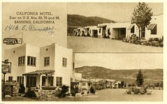 California Motel Banning CA (Edge and corner wear) Tags: vintage postcard pc motel motor hotel inn lodge united courts sign roadside handwriting address cursive writing auto court ca california