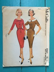 McCall's 5561 (kittee) Tags: kittee vintagesewing vintagepattern mccalls mccalls5561 5561 dress size14 bust34 wouldsell misses junior 1960 1960s unmountedsleeves princessseaming gores slimskirt detachablecollar collar bow