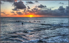 A Few More Waves (tdlucas5000) Tags: turtlebay oahu hawaii north shore sunset ocean seascape clouds surf surfing silhouette