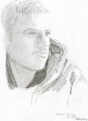 Stuart Kinner for JKPP (Sarmacande) Tags: portrait dessin crayon
