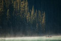 Canoes on Lake Louise (Chris Shanks) Tags: canada lake louise alberta banff light canoe canon landscape lightroom photography trees blue