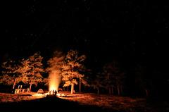 Campfire under the stars (tohood87) Tags: campfire shootingstar fire stars greatoutdoors campsite nightphotography colorado camping outdoor night springs