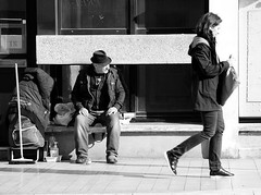 (David Bergin Photography) Tags: nikon blackandwhite streetphotography consuming passing life homeless people montreuil paris france