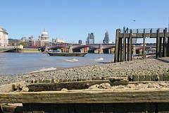 City Skyline (st_hart) Tags: street city sun london tower heron st 30 thames skyline river spring construction day cathedral tide low mary under sunny pauls pebbles clear axe 20 gherkin 42 willi 122 leadenhall cheesegrater fenchurch savefop