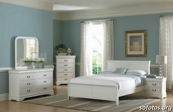 quarto de casal azul