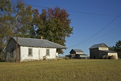 WIRED (NC Cigany) Tags: old blue sky house farmhouse barn rural farm wires antenna 8064