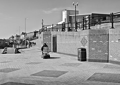 On the Promenade . (wayman2011) Tags: people bw coast yorkshire north bridlington promenades canon400d