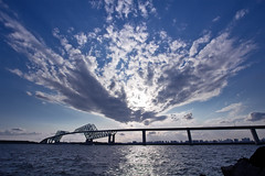 Tokyo Gate Bridge (counteragent (away indefinitely)) Tags: bridge sea sky cloud sun japan tokyo formation  unusual dslr  kiba tokyobay shin  canonefs1022mmf3545usm  wakasu counteragent canoneos60d  tokyogatebridge
