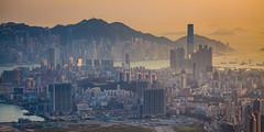 Kowloon Peninsula, Hong Kong (William C. Y. Chu) Tags: sunset landscape hongkong cityscape dusk kowloon feingoshan