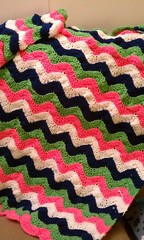 Phyllis Romano (The Crochet Crowd) Tags: ripple crochet mikey yarn blanket afghan april redheart chevron challenge freepattern 2013 freecrochetpattern thecrochetcrowd oceanoceanwavesafghan