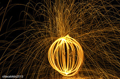 ball of fire (cillatography) Tags: longexposure wool fire photography still cool nightscape steel inspired splash conceptual
