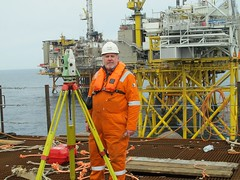TCRA 1201 (thulobaba) Tags: leica construction offshore platform engineering surveys jacket northsea 1201 surveyor 1101 surveying totalstation fugro eldfisk tcra
