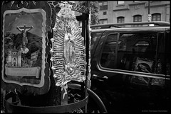 Reflection of the Madonna (malikmata52) Tags: street film madonna religiousicons leicam4p autaut cvultron3517lens