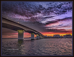 Mid Summer Morn (Visions by Vincent) Tags: bridge hdr hdraddicted sarasota sunrise ringling hdrpro greatphotographers ngc
