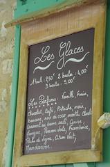 Les Glaces (La belle dame sans souci) Tags: france ardoise menu glaces
