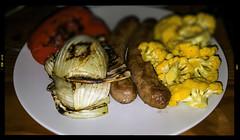 20160718POTD (Plonq) Tags: 2016yip food sausage cauliflower pepper fennel dinner