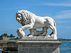 St. Augustine Lion (Chris C. Crowley) Tags: thestaugustinelion bridgeoflions staugustineflorida lionsculpture scenic fort harbor