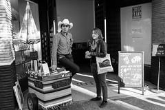 Vaquero Taquero (-Dons) Tags: austin texas unitedstates tx usa vaquerotaquero tacos hat man cowboyhat tacocart cart mexicartemuseum