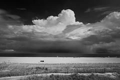 After the Deluge  -  Sea Isle City (fotographis) Tags: leica leicam leicam240 elmarit 21mmelmaritmasph clouds thunderstorm beach coast shoreline shore blackwhite blackandwhite blacksky