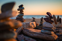 Collapsing with Balance (Orange Orb Photography) Tags: sculpture rock beach sunrise nothernbeaches falling balance longreef seascape sydney rockstacking selectivefocus texture