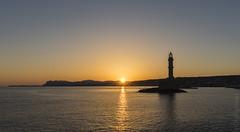 Sunrise - Chania old town port, Crete. (sfrancis23) Tags: sunrise chania old town port crete harbour rays sunrays sun lighthouse greece nikon travel sea seascape water d810 orange sky historic 2470 mm 2470mm golden gold silhoette