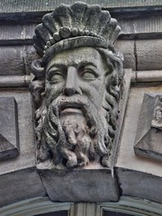 Stone Faces, Leeds Town Hall, UK, 27082016  JCW1967, OPE, HDR (1) (jcw1967) Tags: leedstownhall stonefaces carvedheads architecture historical hdr oloneo