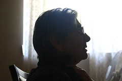 Watching the TV (dzepni_oktavo) Tags: old age nana granny melancholy emotive portrait loneliness sorrow gesture