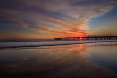 venice wildfire sunset