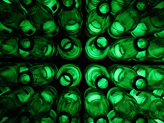 Message in a bottle. (nyanc) Tags: olympicgreen bottle heineken beer macromondays summerolympicsports hollandheinekenhouse sport relax color colorful close europe europa flickr green holland indoor kleur lines macro netherlands prime structure travel