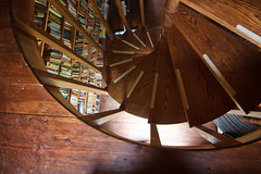 Spiral Stairs (Emily Miller Kauai) Tags: deerisle maine spiral staircase stairs bookshelf books wood